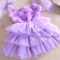 Girls Lace Dress, Flower Girl Dress, Girls Easter Dress, Purple Dress, Tulle Dress, Baby Girl Dress, Girls Birthday Dress