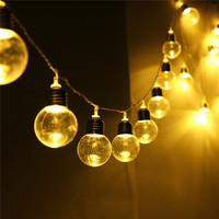 Globe String Lights, 20 LED Outdoor Clear Bulb Decor Fairy Lamp DC31V
