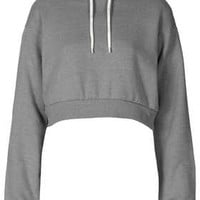 CROP PULL ON HOODY