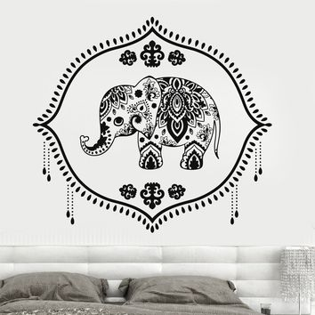Vinyl Wall Decal Indian Baby Elephant Nursery Hinduism Hindu Stickers Unique Gift (723ig)