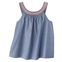 Genuine Kids from OshKosh™ Infant Toddler Girls' Embroidered Chambray Tank