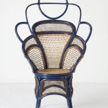 Handwoven Boline Chair by Anthropologie in Blue Size: One Size Furniture