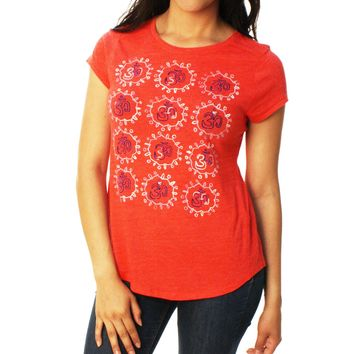 Lucky Brand Women's Grid OHM Graphic T-Shirt