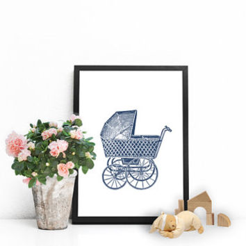 Baby boy nursery decor, Boys wall art, Vintage nursery decor, Vintage baby shower, Baby wall decor, Vintage wall art, Navy blue nursery