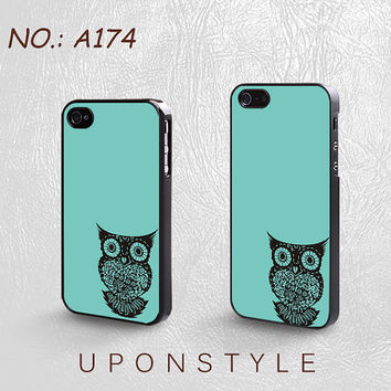 Phone Cases, iPhone 5 Case, iPhone 5s Case, iPhone 4 Case, iPhone 4s case, Owl, iPhone Case, Skins, Case for iphone, Case No-174