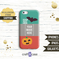 Personalized halloween case iPhone 6 6 Plus iPhone 4 4S 5 5S | Samsung Galaxy S4 S5 | iPad Air Air 2 iPad mini 2 3 | Boo bat pumpkin