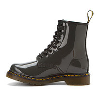 Dr Martens 1460 8 Eye Boot | Women's - Grey Patent Lamper - FREE SHIPPING at OnlineShoes.com