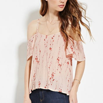 Contemporary Floral Crepe Top | Forever 21 - 2000150397