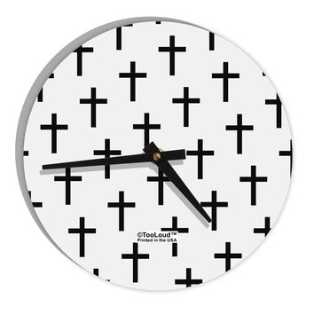 "Christian Crosses 8"" Round Wall Clock All Over Print"
