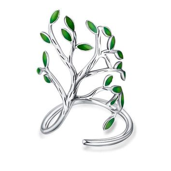 PATICO Newest Handmade GoldSilver Color Jewelry Tree Shaped Wraped Ring Fashion Design Women Wedding Jewelry High Quality