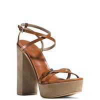 Alma Runway Leather and Suede Sandal | Michael Kors