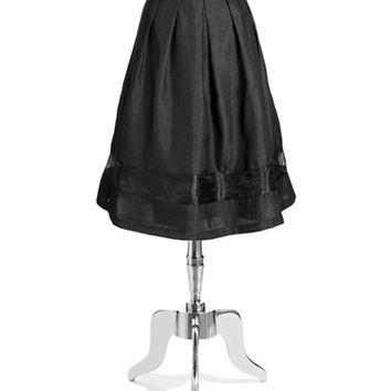 Chetta B Pleated A Line Skirt