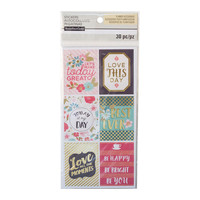 Floral Large Square Phrase Stickers By Recollections™