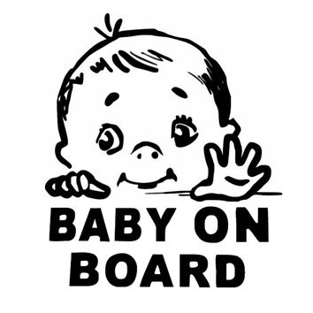 BABY ON BOARD Safety Sign Car Stickers