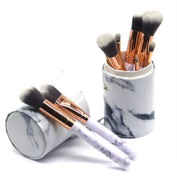 OutTop Beauty Marble Makeup Brush Foundation Set Eye Shadow Brush Cosmetics Blending Brush Tool Cosmetic Brush Tool x# dropship