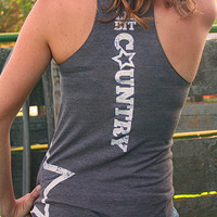 Lil' Bit Country | Women's Tri-Coffee Racerback Tank Top