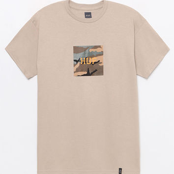 HUF Ambush Pack Camo Box Logo T-Shirt at PacSun.com