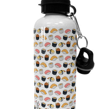 Cute Sushi AOP Aluminum 600ml Water Bottle All Over Print