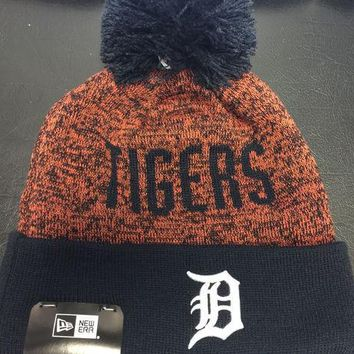 ESBON MLB Detroit Tigers Team Blizzard Cuffed Knit Hat