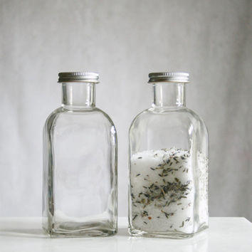 Large Recycled Glass Storage Bottle