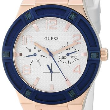Guess Women's Quartz Silicone Band Watch