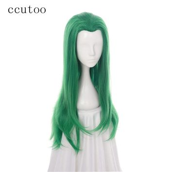 Green Curly Female Joker Mermaid Synthetic Hair Cosplay Full Wig