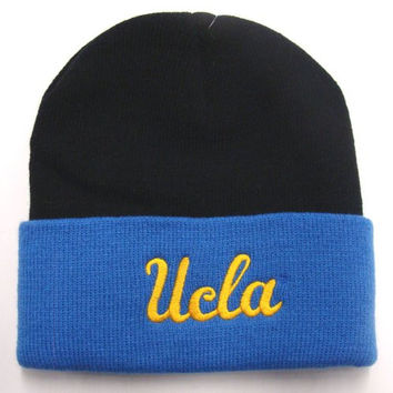 "UCLA Bruins ""2 Tone"" Pom Beanie -  Blue and Black"
