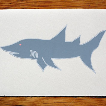 Shark blank greeting card