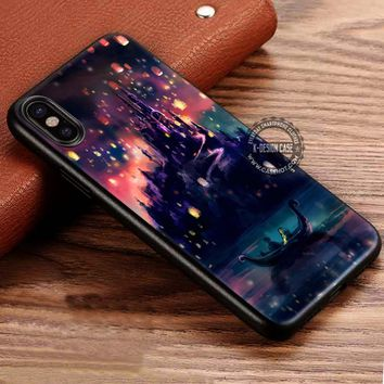 Tangled Painting Disney Rapunzel iPhone X 8 7 Plus 6s Cases Samsung Galaxy S8 Plus S7 edge NOTE 8 Covers #iphoneX #SamsungS8