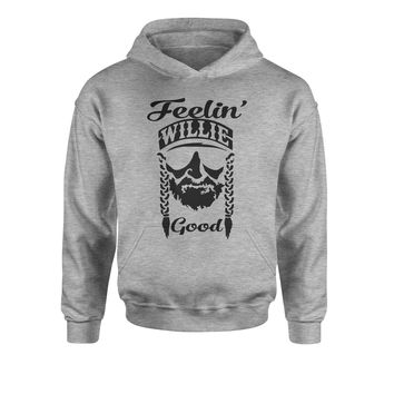 Feelin' Willie Nelson Good Youth-Sized Hoodie