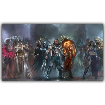 Magic The Gathering Game Silk Cloth Poster Boy Bedroom Wall Decoration Wallpaper 12X21 20X35 24X42 30X53 inch YX366
