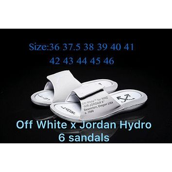 Off White X Jordan Hydro 6 Sandals Wolf Gray 881473 Size 36 46 | Best Deal Online