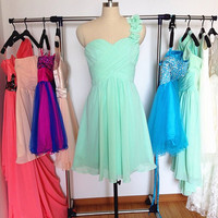 Short Bridesmaid Dress With Green Mint Bridesmaid Dress Chiffon Bridesmaid Dresses Prom Dresses Short Bridesmaid Dresses Chiffon Dress