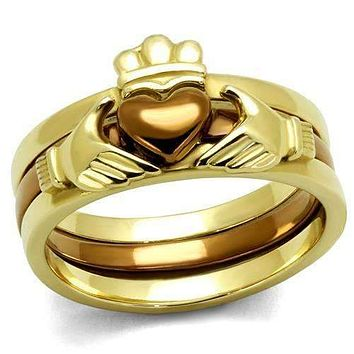 Claddagh Gold Crowned Heart Ring