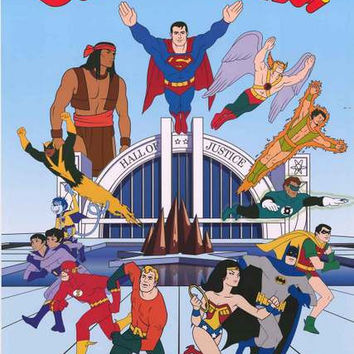 Super Friends Superhero Cartoon Poster 22x34