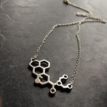 LSD Necklace, LSD Molecule Necklace, Molecule Necklace, Science Jewellery, Science Jewelry, Christmas Gift