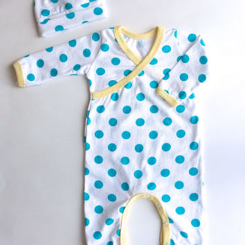 Kimono Romper - Baby Going Home Outfit - Baby Romper - Newborn Romper - Layette - Zaaberry - 0-3 months - 3-6 months - MADE TO ORDER