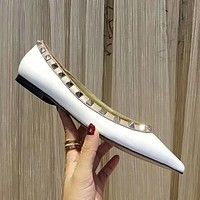 Valentino Rivets Women Fashion Low heeled Shoes