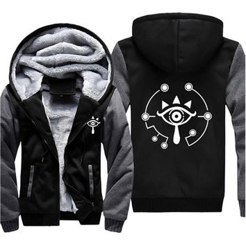 Drop shipping USA /EUR SIZE The Legend of Zelda Printed Hoodies, Sweatshirts for Men Women Whiter Fleece Thicken Jackets Coats