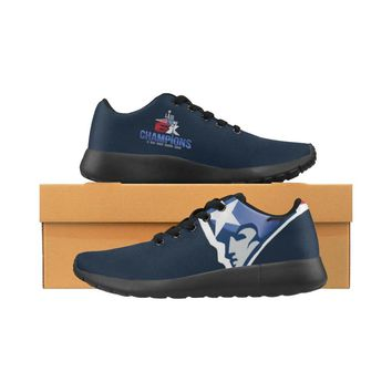 New England Patriots 6X Champs Sneakers Men Women Kids| SB LIII Navy/Red Running Shoes