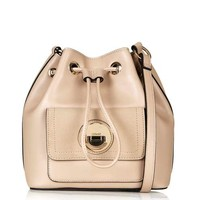Bucket Bag with Circle Lock
