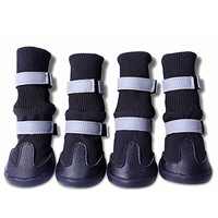 M2cbridge Reflecting All Wheather Waterproof Dog Boots Pet Snow Boots Shoes 4 Sizes Available (L)