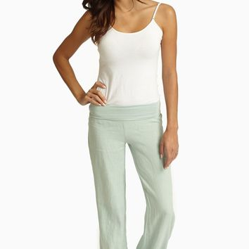 Mint Green Linen Pants