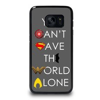 JUSTICE LEAGUE SAVE THE WORLD Samsung Galaxy S7 Edge Case Cover