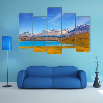 Mirror Lake With Icy Water Multi Panel Canvas Wall Art