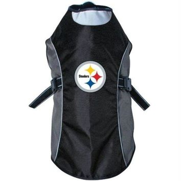 DCCKT9W Pittsburgh Steelers Water Resistant Reflective Pet Jacket
