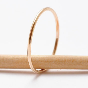 Gold Stack Ring Everyday Simple Thin Ring Gold Stackable 14K Gold Filled Ring Minimalist Stacker Small Ring Stocking Stuffer