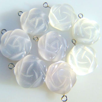Rose Pendant Carved Catseye 17mm Gorgeous by Treasure2Remember