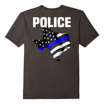 Texas Police Officer T-Shirt for LEO Cops Law Enforcement