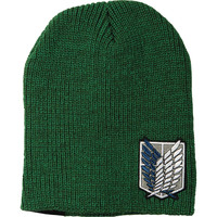 Attack On Titan Men's Scout Beanie Green